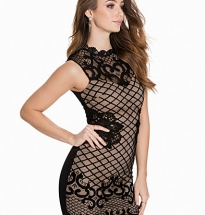 Grid Lace Dress