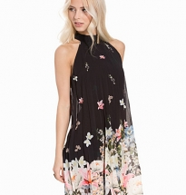 Floral Bottom Swingers Dress