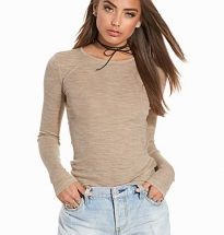 Sheer Wolly Rib Crew Neck
