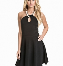 Necklace Keyhole Scuba Skater Dress
