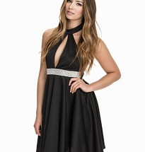 Halterneck Keyhole Diamont Scuba Dress