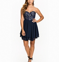 Contrast Bandeau Lace Dress
