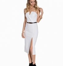 Belted Tux Bandeau Dress