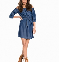 Bardot Belted Denim Dress