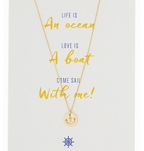 Anchor Necklace with card