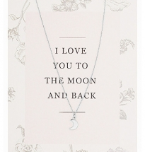 Moon Necklace with card