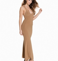 Cami Slinky Rouched Back Dress