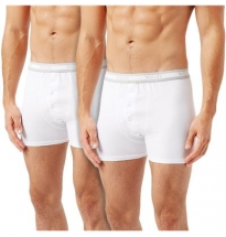Wolsey - Boxer Brief White