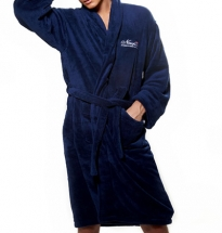 Newport - Jamesport Bathrobe Blue